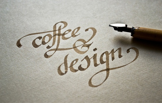 """Coffee & Design"" Calligraphy by Renato Molnar"
